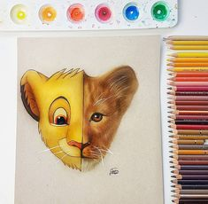 Speed drawing of Simba from the lion king. Lion King Movie, Lion King Simba, Polychromos, Faber Castell, Prismacolor, Colored Pencils, Drawings, Youtube, Art