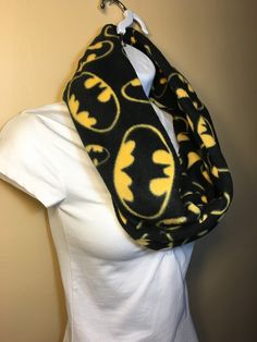 New to Sewdivine77 on Etsy: Adults Batman Logo infinity fleece scarf (15.00 USD)
