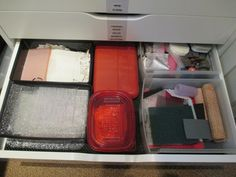 Textures and templates tools. I used a few of the drawers from my old 3-drawer bins to hold supplies.