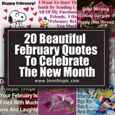 February is the month of love! Everyone celebrate the month with these beautiful pictures of February. We have 20 February images that you will love! February Images, February Quotes, Welcome February, Days In February, Good Morning Happy, Good Morning Friends, New Month Wishes, February Month, Heart Images