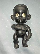 Vintage 1960s Black Doll with Lenticular Winking Sleeping Eyes