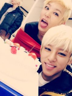 Zelo and Daehyun B.A.P