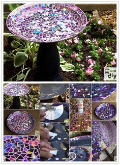 17 Captivating DIY Recycled Craft Projects Which Are Too Enticing To Overlook With the world getting on at recycling things, get going on trying for some recycled projects. Here are some fascinating DIY recycled craft projects to try your hands on. Cd Mosaic, Mosaic Birdbath, Mosaic Birds, Mosaic Crafts, Mosaic Projects, Cool Diy Projects, Craft Projects, Cd Diy, Recycled Cds