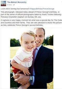 Duchess Kate: New Photo Released to Mark Prince George's 2nd Birthday!