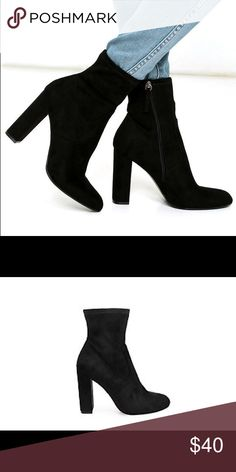 Steve Madden edit bootie. BRAND NEW NEVER BEEN WORN  they are too tall and I am already tall so I do not like how they fit Steve Madden Shoes Ankle Boots & Booties