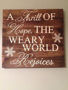Pallet Wood Quote Christmas Carol Lyrics by dashingdesignsfinds, $60.00