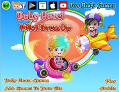 Help Baby Hazel to get ready for her flight. Give a perfect pilot makeover to her with trendy costume and accessories http://www.topbabygames.com/baby-hazel-pilot-dressup.html