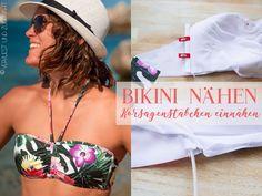 Tutorial: Korsagenstäbchen in Bikini einnähen // Jazz Bikini Swimstyle Patterns: sewing in boning on the side seam Side, Bikinis, Swimwear, Portfolio, Jazz, Fashion, Swimsuit, Bathing Suits, Moda