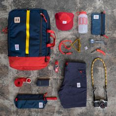 Summertime Gear Grid with Topo Designs