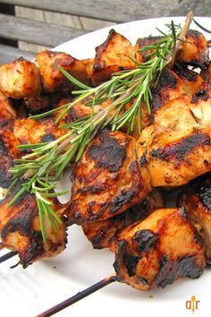 """Rosemary Ranch Chicken Kabobs   """"This rosemary ranch chicken recipe is so delicious, tender, and juicy the chicken will melt in your mouth. Even the most picky eater will be begging for the last piece."""""""