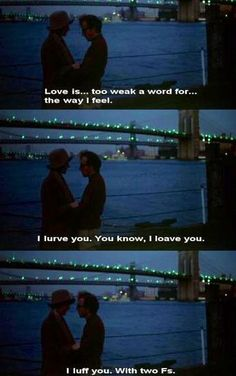"""I luff you."" - Annie Hall #moviequotes #anniehall"