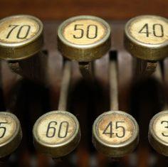 VINTAGE CASH register numbers #typography