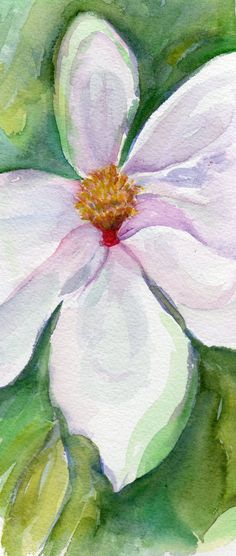 Original Magnolia Watercolor Painting from by SharonFosterArt, $25.00
