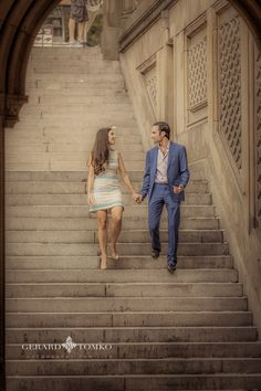 Engagement session in New York. Central Park, candid moment | Liz + Ed | Philadelphia Wedding Photographer | Gerard Tomko.
