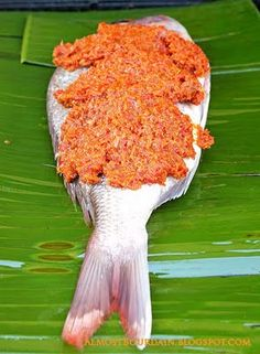 ... banana leaf malaysian more sambal fish banana leaves grilled sambal