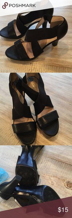 Sandals Wide strapped black sandals Naturalizer Shoes Sandals