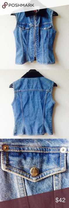 Paris Blues Vest Cute denim vest by Paris Blues.  Bundle this item along with 2 or more items from my closet and save an extra 10% off!   Feel free to comment below if you have any questions :)  Thanks! Paris Blues Jackets & Coats Vests