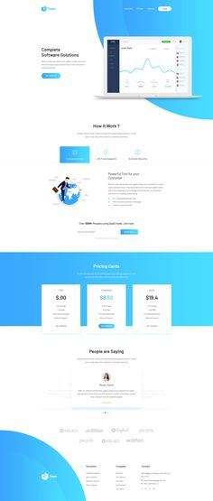 SaaS Trade - Startups SaaS PSD Template by uigigs | ThemeForest #webdesign #ui