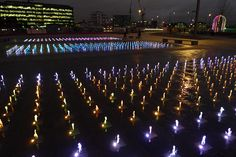 View across Granary Square fountains, Nov 2012 (photograph by Nick Lloyd)