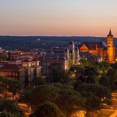 The #SyracuseU campus at sunset.