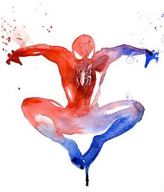 Spiderman - Super hero portraits in watercolor - Super héros : portraits en aquarelle Marvel Art, Marvel Comics, Mcu Marvel, Marvel Heroes, Captain Marvel, Captain America, Comic Books Art, Comic Art, Heros Comics