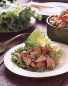 Chicken Cherry Salad - Light but Filling! #NWCherries