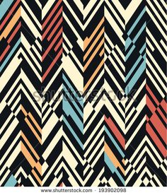 Seamless geometric color striped pattern background - stock vector