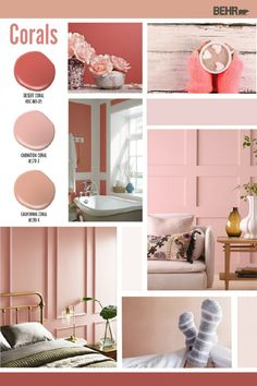 Make a colorful statement with the interior design of your home thanks to these coral paint colors from Behr Paint. Ranging from bright pink hues to light blush tones, these colors are a fun way to liven up any room. Click below to discover the perfect shade for your next DIY home makeover project.