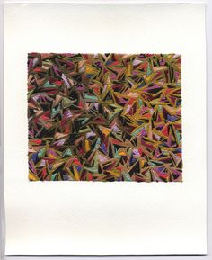 emily barletta, Untitled 142, embroidery on paper
