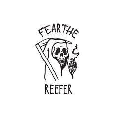 fear the reefer illustration Sketch Tattoo Design, Tattoo Sketches, Tattoo Drawings, Art Sketches, Art Drawings, Reaper Drawing, Arte Dope, Grim Reaper Tattoo, Doodle Tattoo