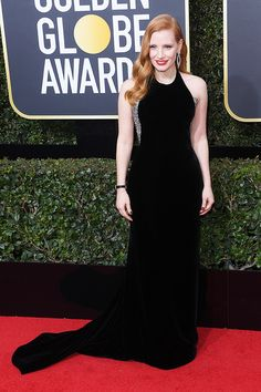 Jessica Chastain attends the 75th Annual Golden Globe Awards, Arrivals, Los Angeles, USA – Jan 7, 2018 (REX/Shutterstock)