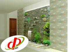 Tiểu cảnh tường thác nước 19 Corner Landscaping, Glass Waterfall, Staircase Wall Decor, Water Walls, Inside Home, Interior Garden, Natural Garden, Earthship, Swimming Pool Designs