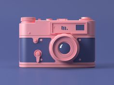 Photo camera by Mike Protsenko 3d Model Character, Character Design, Character Art, Desing Inspiration, 3d Cinema, Modelos 3d, 3d Tutorial, 3d Artwork, Low Poly