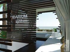 Concept design of the cafè LIBARIUM, located in Italy. Interior view.