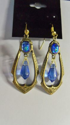 Buy Blue Teardrop Earrings by spiritracer. Explore more products on http://spiritracer.etsy.com