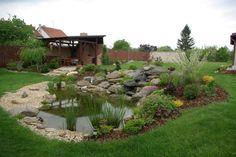 Zahradní jezírka - fotogalerie - Třebíč, Náměšť Pond Landscaping, Ponds Backyard, Backyard Patio, Fish Pond Gardens, Koi Fish Pond, Natural Swimming Ponds, Water Garden, Garden Design, Garden Ideas