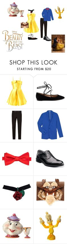 """Beauty and the Beast"" by jbillington ❤ liked on Polyvore featuring Disney, Alex Perry, Gianvito Rossi, Dolce&Gabbana, agnès b., Saddlebred, Florsheim and Danielle Nicole"