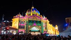 Melbourne's Flinders Street Station on White Night! Have you been to a White Night/Nuit Blanche in your city?