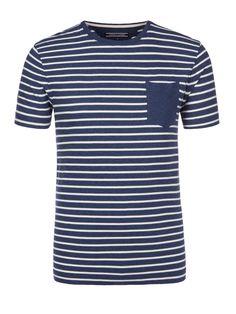 Tommy Hilfiger Aktuelles T-Shirt mit Streifenmuster blau – Herrenmode in Übergrößen