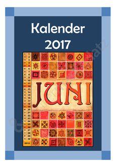 Kalendervorlage zum kreativen Gestalten 2017 - Seite 1