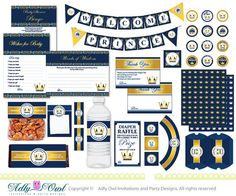 Royal Blue Gold Prince Baby Shower Extended by adlyowlinvitations