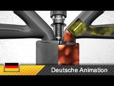 How Gasoline Engines Work! Rudolf Diesel, Engine Repair, Gasoline Engine, Animation, Small Engine, Motor Car, Engineering, Combustion Engine, Youtube