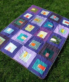 I've been saving old clothes to make my own recycled clothing quilt.