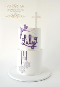 Tinkerbell Baptism Cake - Cake by Leah Jeffery