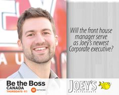 Be The Boss Canada Joey's Aaron Corporate Executive, Be The Boss, Tv Shows, Management, Film, Movie, Film Stock, Cinema