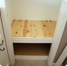 tutorial to make bench in front closet