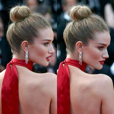 Trending now: @rosiehw's killer top-knot done by @georgenorthwood, for #cannes Film Festival! What do you think?  #Repost @stunningrosie ・・・ #cannesfilmfestival2016 #rosiehuntingtonwhiteley