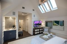 HGTV.com shares beautiful pictures of the cozy and stylish master bedroom from HGTV Smart Home 2015.