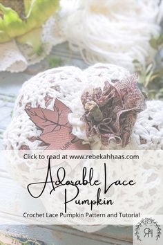 Make an adorable addition to your fall decor using this free crochet pattern. The small crochet lace pumpkin pattern can be found free by clicking the link. Crochet Fall Decor, Autumn Crochet, Crochet Pumpkin, Crochet Pillow, Crochet Lace, Free Crochet, Halloween Crochet Patterns, Crochet Ideas, Yarn Needle