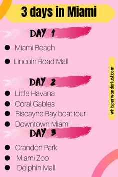 You can easily find many interesting things to do and see in Miami; with a little organization, you can enjoy your 3 days in Miami. Spring Break Miami, Weekend In Miami, Florida Travel, Florida Beaches, Miami Beach, Miami Florida, South Florida, Vacation Deals, Travel Deals